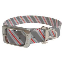 Muck Dog Collar by Kurgo - Prepster Stripe Granite Gray