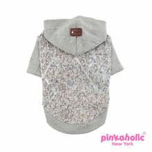 Muffy Knit Dog Hoodie by Pinkaholic - Melange Gray