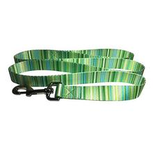 Multi-Stripes 5' Dog Leash - Green