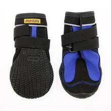 Muttluks Snow Mushers Dog Boots - Blue with Black Trim - Set of Two