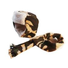 My Canine Kids Aviator Hat and Dog Scarf Sets - Camo