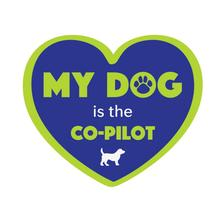 My Dog is the Co-Pilot Sticker by Dog Speak