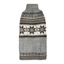 Mystic Snowflake Alpaca Sleeveless Dog Sweater - Gray