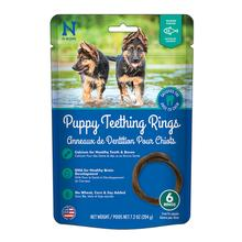 N-Bone Puppy Teething Ring Dog Treat - Salmon Flavor