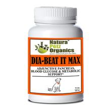 Natura Petz Organics Dia-Beat-It Max! Pancreas, Blood Glucose & Metabolic Support for Dogs - Turkey Flavor, 90 Caps