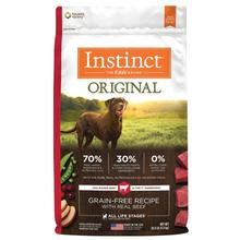Nature's Variety Instinct Original Grain-Free Recipe Dog Food - Real Beef