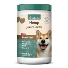 NaturVet Hemp Joint Health Soft Chews Dog Supplement