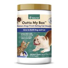 NaturVet Outta My Box Dog and Cat Soft Chews – Deters Dogs from Eating Cat Stools
