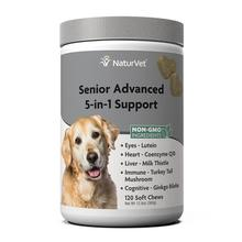 NaturVet Senior Advanced 5-in-1 Support Soft Chew Dog Supplement