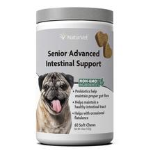 NaturVet Senior Advanced Intestinal Support Soft Chew Dog Supplement