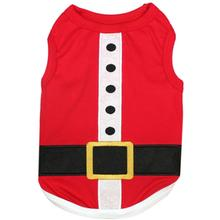 Santa's Outfit Dog Tank by Parisian Pet - Red