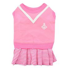 Naunet Marine Dog Dress by Puppia - Pink