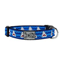 Shark Attack Adjustable Clip Dog Collar By RC Pet