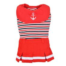 Nautical Dog Dress by Puppia - Red