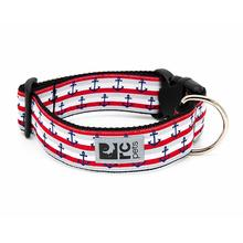 Nautical Wide Clip Adjustable Dog Collar By RC Pets