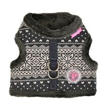 Neige Pinka Dog Harness by Pinkaholic - Charcoal Gray