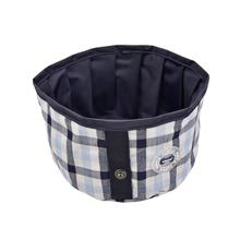 Neil Round Portable Dog Bowl by Puppia Life - Navy