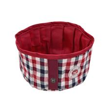 Neil Round Portable Dog Bowl by Puppia Life - Wine