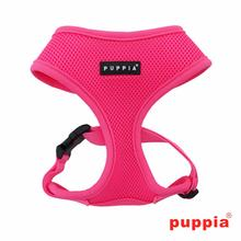 Neon Soft Adjustable Dog Harness by Puppia - Pink