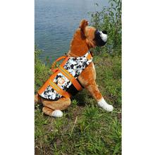 Neoprene Dog Life Jacket - Black/White Camo