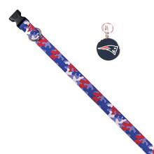 New England Patriots Team Camo Dog Collar and Tag by Yellow Dog