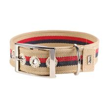 New Orleans Cotton Stripe Dog Collar by HUNTER - Beige