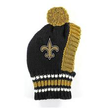 New Orleans Saints Knit Dog Hat