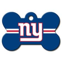 New York Giants Engravable Pet I.D. Tag - Bone