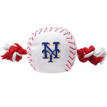 New York Mets Nylon Plush Baseball Rope Dog Toy