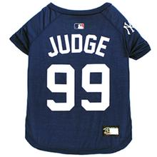 New York Yankees Aaron Judge Dog T-Shirt - Blue