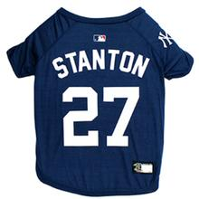 New York Yankees Giancarlo Stanton Dog T-Shirt - Blue
