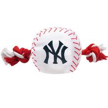 New York Yankees Nylon Plush Baseball Rope Dog Toy