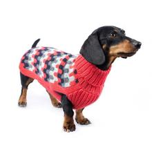 Waves Alpaca Dog Sweater by Alqo Wasi - Coral