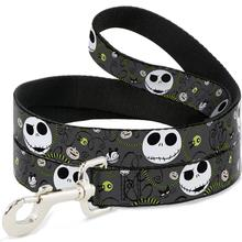 Nightmare Before Christmas Dog Leash by Buckle-Down - Gray