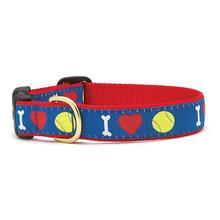 I Heart Tennis Balls Dog Collar by Up Country