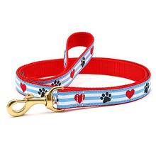 Pawprint Stripe Dog Leash by Up Country