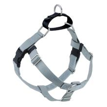 No-Pull Dog Harness Deluxe Training Package - Silver and Black