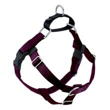 No-Pull Dog Harness Deluxe Training Package - Burgundy and Black