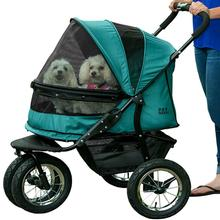 No-Zip Double Pet Stroller - Pine Green