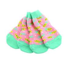 Non-Skid Dog Socks by Doggie Design - Pink Pineapple