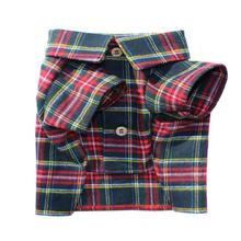 Northern Pine Flannel Dog Shirt By Dog Threads
