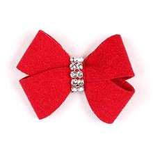 Nouveau Bow Dog Hair Bow by Susan Lanci - Red