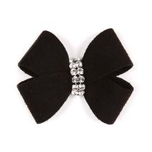 Nouveau Bow Dog Hair Bow by Susan Lanci - Black