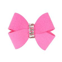 Nouveau Bow Dog Hair Bow by Susan Lanci - Perfect Pink