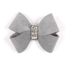 Nouveau Bow Dog Hair Bow by Susan Lanci - Platinum