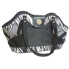 NY Dog Zebra Print Open Pet Tote - Black
