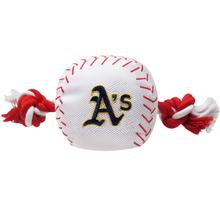 Oakland Athletics Nylon Plush Baseball Rope Dog Toy