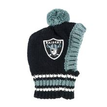 Oakland Raiders Knit Dog Hat