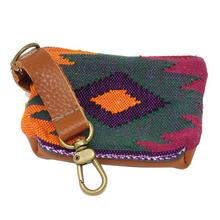Oaxaca Sunburst Pooch Accessory Pouch by Salvage Maria - Green/Purple