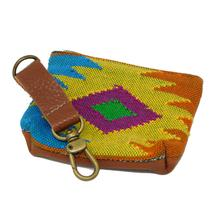 Oaxaca Sunburst Pooch Accessory Pouch by Salvage Maria - Yellow